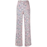 Nº21 Calça Pantalona Com Estampa De Margarida - Estampado