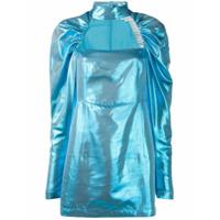 Rotate Vestido Franzido - Azul