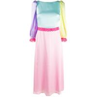 Olivia Rubin Vestido Color Block De Cetim - Rosa