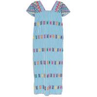 Pippa Holt Vestido Kaftan Midi Listrado - Azul