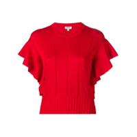 Kenzo Blusa De Tricô Com Acabamento De Babados - Vermelho