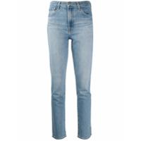 J Brand Calça Jeans Cigarrete Com Cintura Alta - Azul