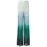 Cecilia Prado Calça Pantalona Lavinia De Tricô - Verde
