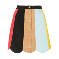 Alice+Olivia Mini Saia Colour Block - Estampado