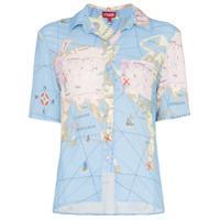 Staud Camisa Estampada Com Rotas De Navegação - Multicoloured