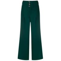 Bo.bô Calça Pantalona Com Aplicações Metálicas - Verde