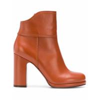 L'autre Chose Ankle Boot Plataforma De Couro - Amarelo