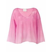 Fine Edge Blusa Translúcida - Rosa