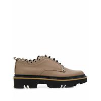 Pollini Sapato Brogue Com Detalhe Ondulado - Marrom