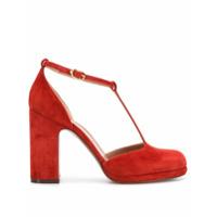 L'autre Chose Sapato Com Tiras Em T - Vermelho