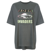 Ader Error Camiseta Invaders - Cinza