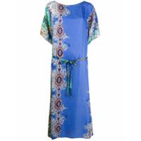 Antonelli Vestido Com Estampa Paisley - Azul