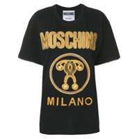 Moschino Camiseta Oversized - Preto
