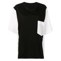 Y's Contrasting Panels T-Shirt - Preto