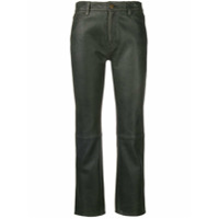 Mih Jeans Daily Cropped Trousers - Preto