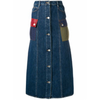 Sonia Rykiel Saia Jeans Midi - Azul