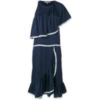 Maison Père Vestido Com Babado - Azul