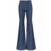 Chloé Calça Jeans Flare Com Fendas - Azul