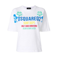 Dsquared2 Camiseta Com Logo 'surf' - Branco