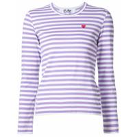 Comme Des Garçons Play Camisa Listrada - Rosa