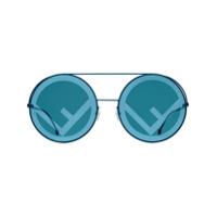 Fendi Óculos De Sol Fendirama - Azul