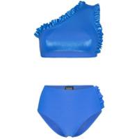 Leslie Amon Conjunto De Biquíni Tamini Com Detalhe De Babados - Azul