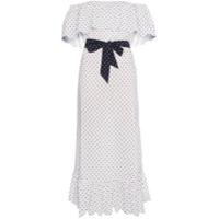 Marysia Vestido Midi Com Poás - Branco