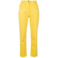 Etro Calça Jeans Com Bordado - Amarelo