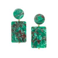 Lele Sadoughi Par De Brincos Keepsake - Green