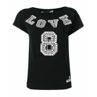 Love Moschino Camiseta 'love 8' - Preto