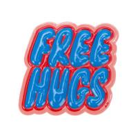 Anya Hindmarch Adesivo Free Hugs - Azul