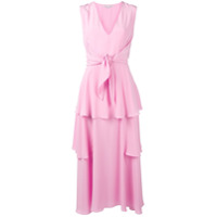 Stella Mccartney Vestido Longo De Seda - Rosa