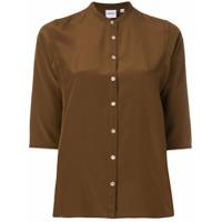 Aspesi Camisa De Seda - Marrom