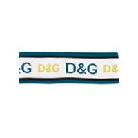 Dolce & Gabbana Headband Com Logo - Azul