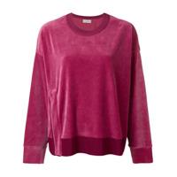 Moncler Suéter Com Logo - Rosa