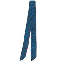 Andamane Echarpe Pele De Cobra - Azul