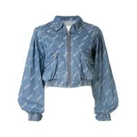 Ground Zero Jaqueta Jeans Cropped - Azul