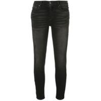 Amiri Calça Jeans Cropped - Preto