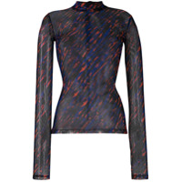 House Of Holland Animal Print Fitted Top - Azul
