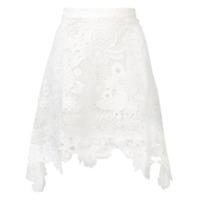 Antik Batik Saia Thelma Com Renda - Branco