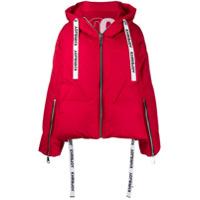 Khrisjoy Hooded Puffer Jacket - Vermelho