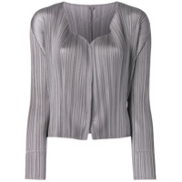 Pleats Please By Issey Miyake Micro Pleated Jacket - Cinza