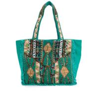 Antik Batik Bolsa Tote Mauri - Verde