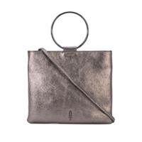 Thacker Nyc Metallic Finish Clutch - Cinza