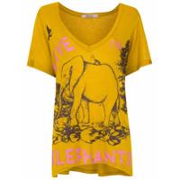 Tig Camiseta 'elephants' Com Estampa - Amarelo