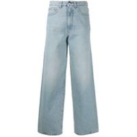 Totême Calça Jeans Flair - Azul
