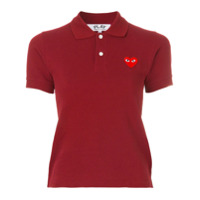 Comme Des Garçons Play Camisa Com Logo - Rosa