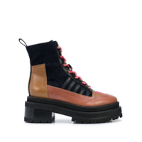 Pierre Hardy Ankle Boot Alpha Camp Com Solado Chunky - Marrom