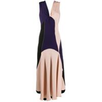 Colville Vestido Color Block - Preto
