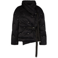 Shoreditch Ski Club Fleur De Lis Puffer Jacket - Preto